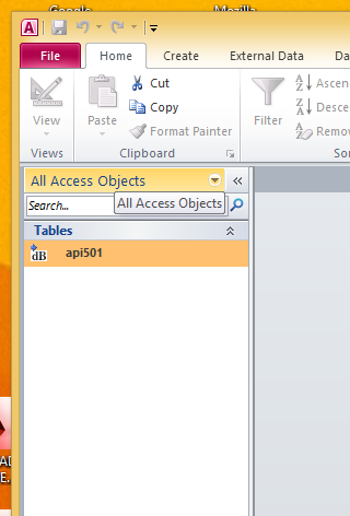 DBF File Linked to Access 2010